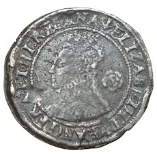 Queen Elizabeth the 1st hammered silver threepence 1562 English hammer coin