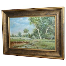 Landscape Painting c. 1932 by Rosecrans - Small and Beautiful