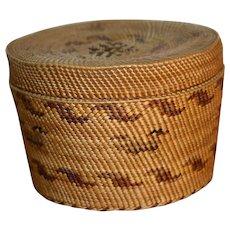Native American Nootka Trinket Basket - c. 1930s