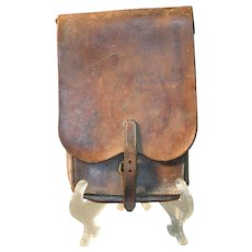 Historic Saddle Bag - Sgt. 1st Class Medical Dept., U.S. Army - Written History on Bag