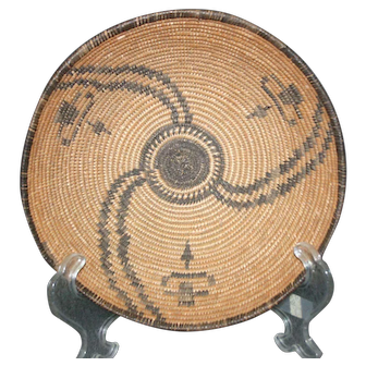 Native American Basket - c. 1930s Apache Bowl