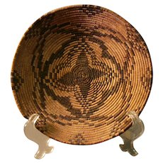 Native American Basket - Apache Tray - Star Pattern c. 1900