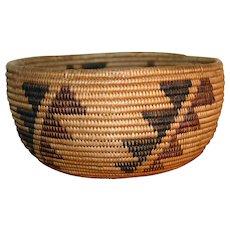 Maidu Basket Bowl - c. 1900s - Polychrome