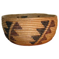 Native American Maidu Basket  c. 1900s - Polychrome