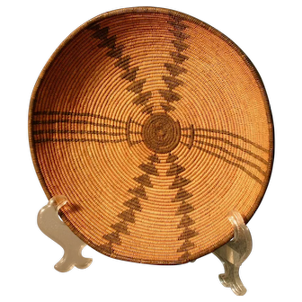 Native American Basket - Apache Bowl - Most Unusual Design