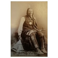 "Perry 1800s CDV of ""White Ghost"" Chief of Yankonai Sioux"
