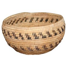 Native American Mono Basketry Bowl