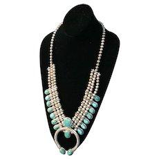 Native American Squash Blossom Necklace - Royston - Vintage - Fabulous