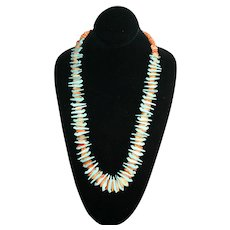 Native American - Vintage Bird Fetish Necklace - Turquoise and Spiny Oyster