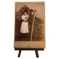 "Late 1800s CDV Photograph by ""Perry"" of Chamberlain, Dakota of Two Native American Children"