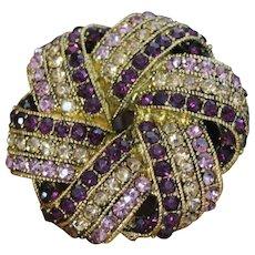 Ravishing Sensational SIGNED MONET Topaz Amethyst Bedazzled Exquisite Designer High End Brooch