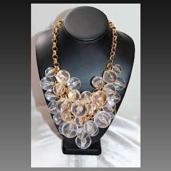 Magnificent Signed COURREGES Pools of Light Resin Massive Necklace