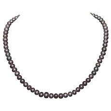 Gorgeous Vintage Genuine Freshwater Black Pearl