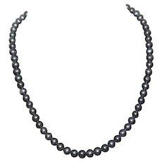 Stunning Vintage Genuine Freshwater Black Pearl