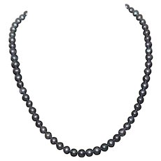 Lovely  Classy Vintage Genuine Freshwater Black pearl