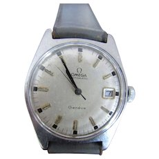 Vintage Omega S/S Automatic Geneve  Date Watch
