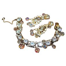 JULIANA DE Diamante Crystal Dangling Designer High End Bracelet Earring Set