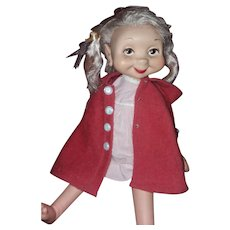Vintage Whimsie doll with 20 beautiful homemade outfits
