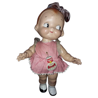 Antique Campbell's Soup Kid doll - all original