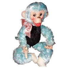 Vintage Blue Zippy 1960's Monkey