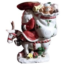 Fitz & Floyd Southwest Santa Cookie Jar