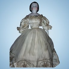 Kestner 1850's Alice China Head - all original