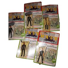 Set of five vintage M*A*S*H  figures in original packages