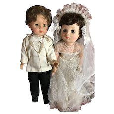 """27"""" Vintage Bride and Groom"""