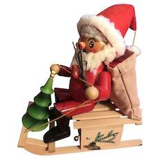 Steinbach Musical Santa on Sled Smoker