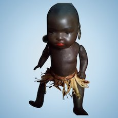 Heubach Koppelsdorf  antique bisque African baby