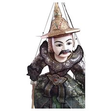 "36"" large authentic Burmese Marionette"