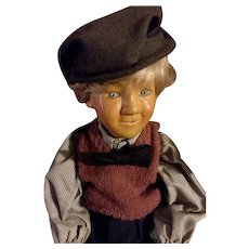 All Wood Carved Brunswood Little Boy