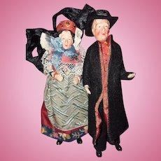 Doll house size Ethnic couple