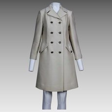 1960's Beige Wool and Silk Blend Coat