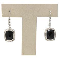 David Yurman Albion Diamond Black Onyx Drop Earrings