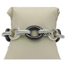 David Yurman 925 Ceramic Extra-Large Oval link Bracelet