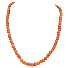 Victorian Single Strand Coral Necklace