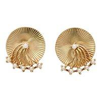 Retro Tiffany & Co 14K Yellow Gold Earrings