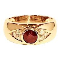 Ruby Diamonds 14K Yellow Gold Vintage Ring