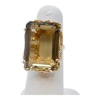 Vintage Ladies Citrine 14K Yellow Gold Ring