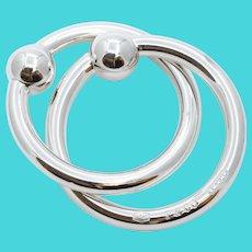 Vintage Tiffany and Co. Interlocking Rattling Teething Rings Sterling Silver 925