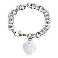 Tiffany & Co Sterling Silver  Classic Heart Tag Bracelet