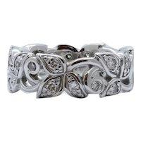 Vintage Clover Diamonds 14K White Gold Ring