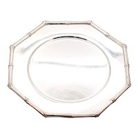Tiffany and Co. Bamboo Octagonal Serving Dish 925 Sterling Silver
