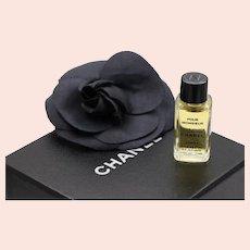 Chanel Camellia Black Flower Pin Brooch Perfume Gift