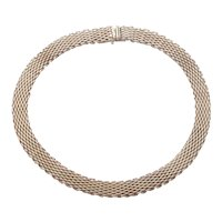 Tiffany and Co. Somerset Mesh Necklace 925 Sterling Silver