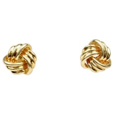 Tiffany and Co. Grande Love Knot Earrings 18K Yellow Gold