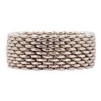 Tiffany and Co Mesh 925 Sterling Silver Ring
