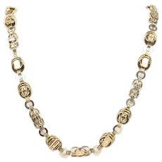 Victorian Hundred Hallmark 14K Necklace