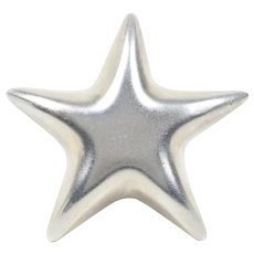 Tiffany and Co. Vintage Puffy Star Brooch Pin 925 Sterling Silver